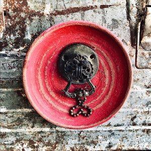 Handcrafted vintage ceramic magnet